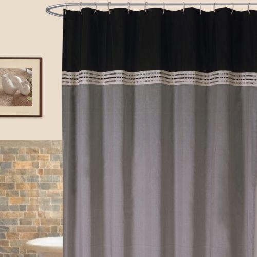 Lush Decor Terra Striped Fabric Shower Curtain