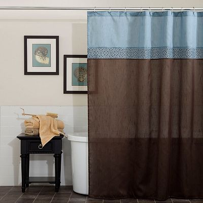 Lush Decor Geometric Fabric Shower Curtain