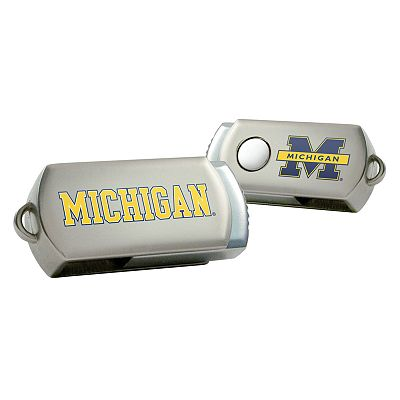 Michigan Wolverines DataStick Twist 4GB USB Flash Drive