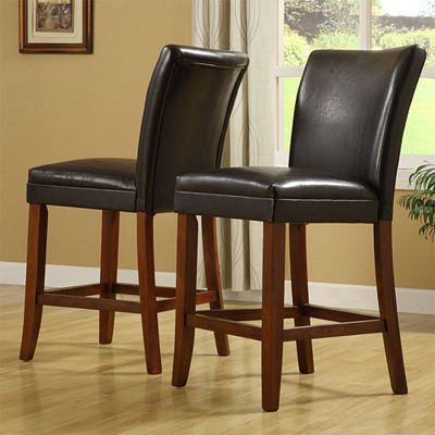 HomeVance 2-pc. Parson Counter Stool Set