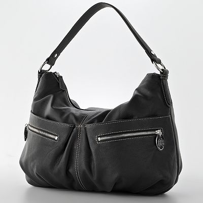 Dana Buchman - Turner Hobo :  satchel bag handbag purse leather purse