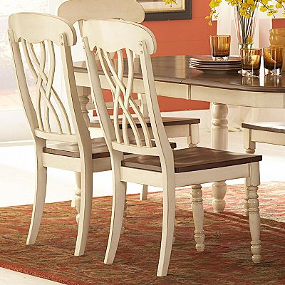 HomeVance 2-pc. Antiqued Dining Chair Set