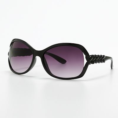 FENY French-Twist Vented Oval Sunglasses