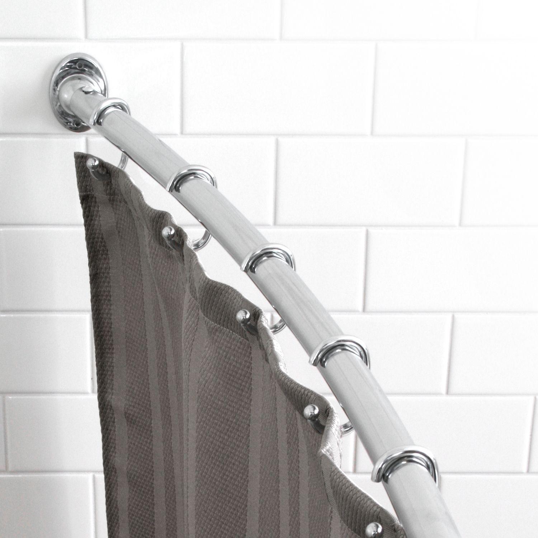splash home curved shower curtain rod