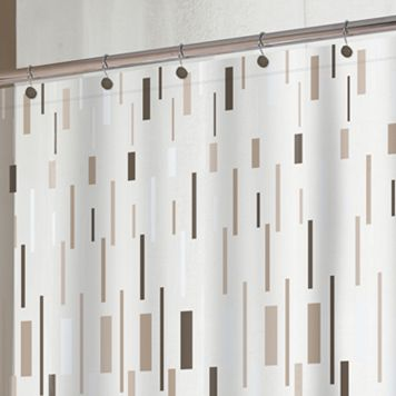 Splash Home Bars Vinyl Shower Curtain