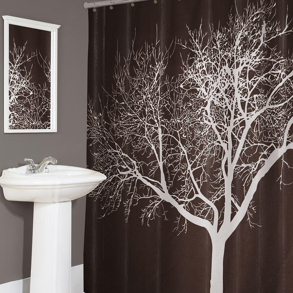 Splash Home Tree Fabric Shower Curtain - Home Tree Fabric Shower Curtain