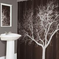Splash Home Tree Fabric Shower Curtain
