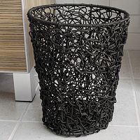 Splash Home Tree Rattan Wastebasket