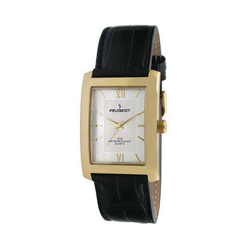 Peugeot Men's Leather Watch - 2033G
