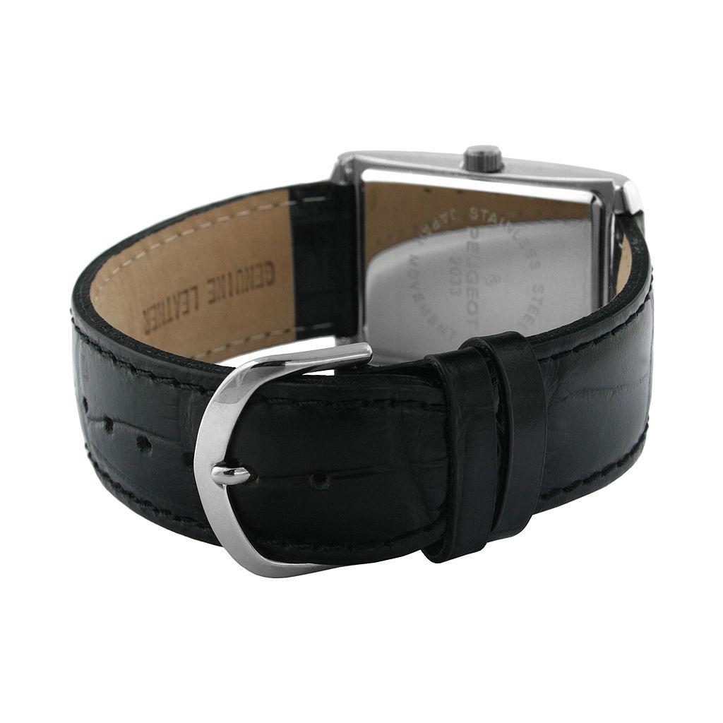 Peugeot Men's Leather Watch - 2033SL
