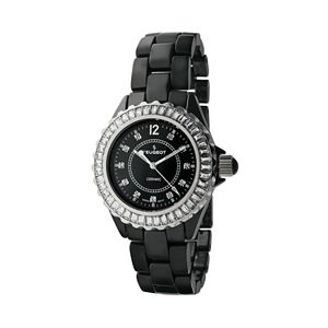 Peugeot Women's Crystal Watch & Interchangeable Bezel Set - PS4900BK