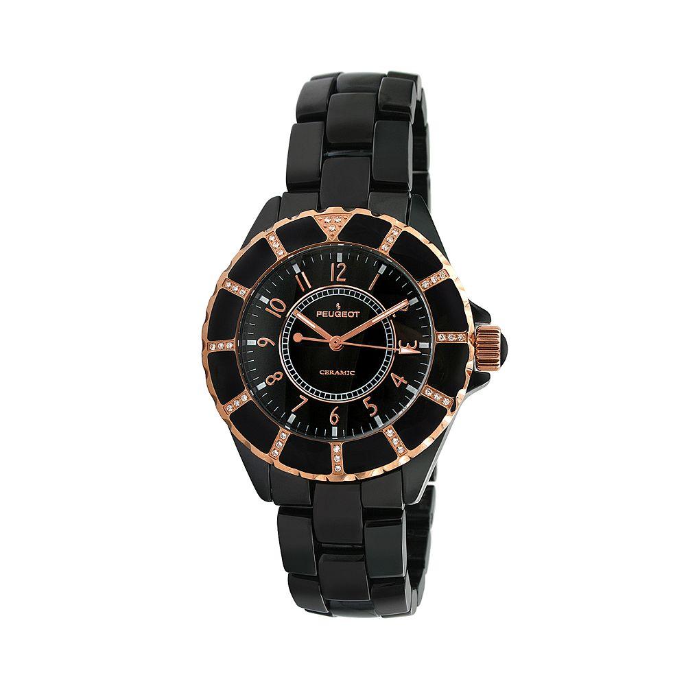 Peugeot Women's Crystal Watch - PS4893BK