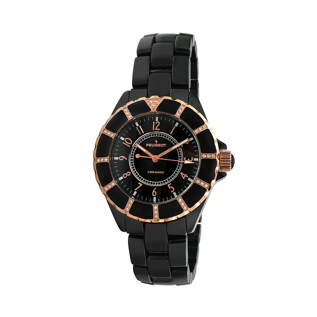 Peugeot Women's Crystal Watch - PS4893BK