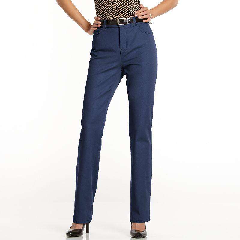 Chaps Twill Dress Pants - Women's