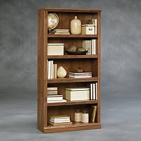 Sauder 5-Shelf Brown Split Bookcase