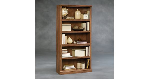 Kohl Furniture Store: Sauder 5-Shelf Brown Split Bookcase