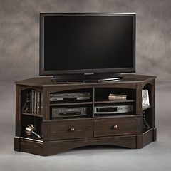 Sauder Harbor View Corner Entertainment Credenza