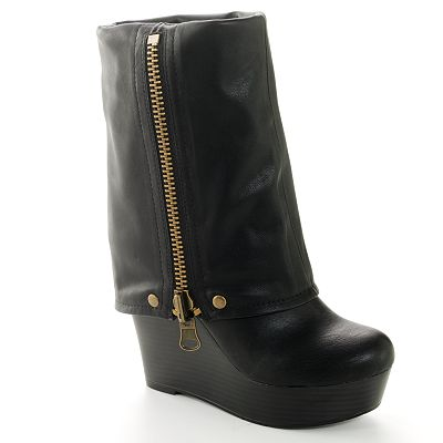 Candie's Midcalf Spat Boots