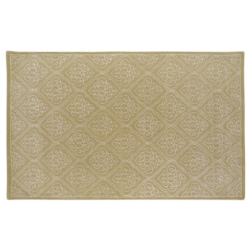 Decor 140 Modern Classics Traditional Wool Blend Rug, Green, 3X5 Ft Product Image