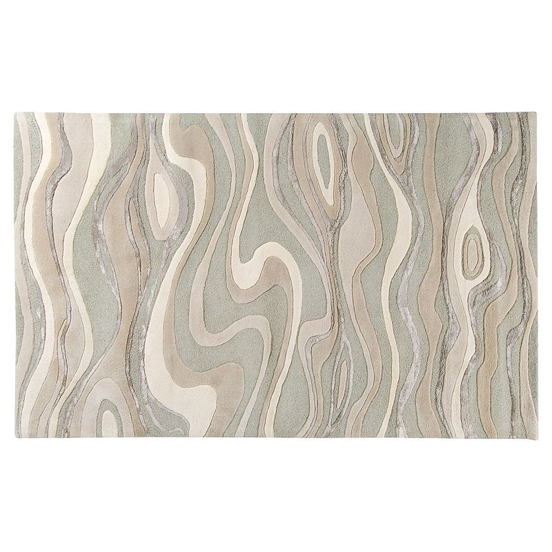 Decor 140 Modern Classics Abstract Wave Rug, White, 2X3 Ft