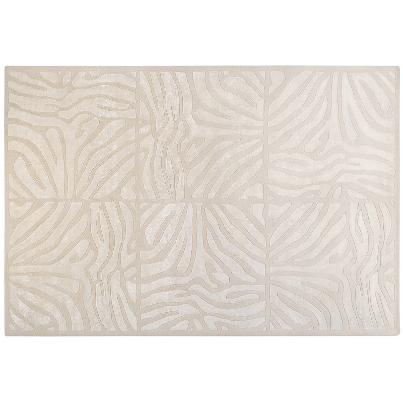 Decor 140 Modern Classics Abstract Geometric Wool Blend Rug, White, 3X5 Ft Product Image