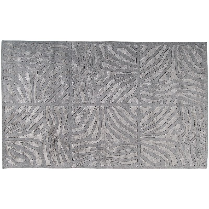 Decor 140 Modern Classics Abstract Geometric Wool Blend Rug, Grey, 3X5 Ft Product Image