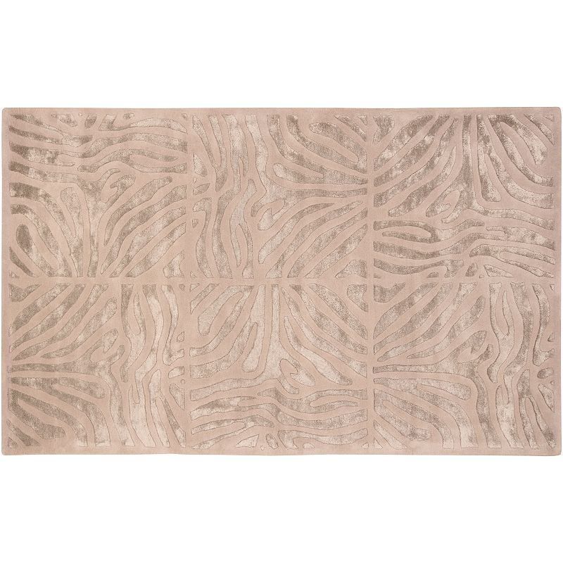 Decor 140 Modern Classics Abstract Geometric Wool Blend Rug, Beig/Green, 3X5 Ft