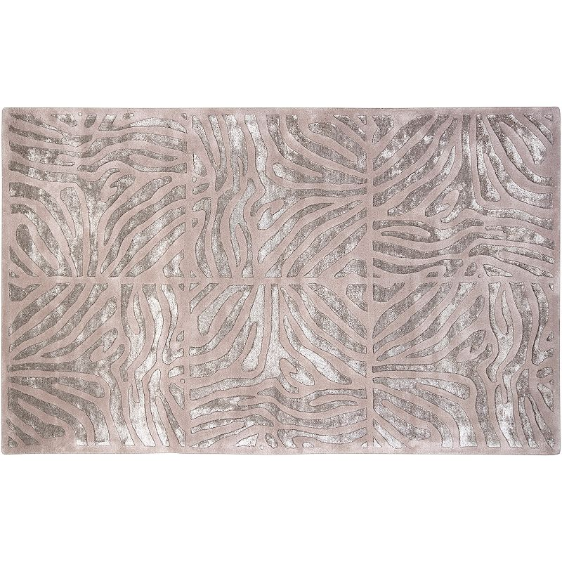 Decor 140 Modern Classics Abstract Geometric Wool Blend Rug, Beig/Green, 2X3 Ft