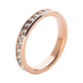 Rose Gold Tone Cubic Zirconia Eternity Ring