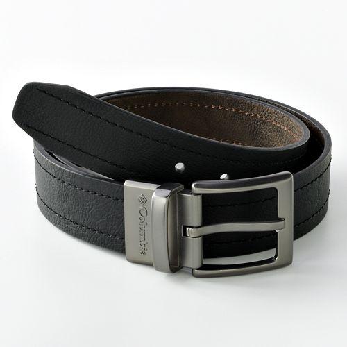 55bce57188a Men's Columbia Logo Buckle Reversible Leather Belt
