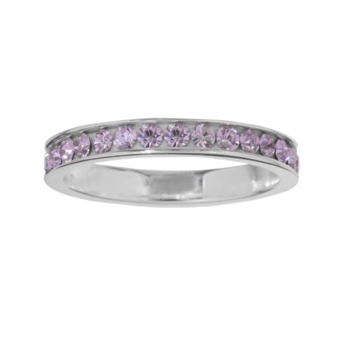Sterling Silver Purple Crystal Ring