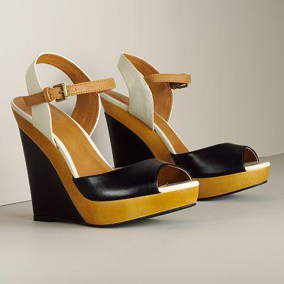 ELLE Peep-Toe Wedges