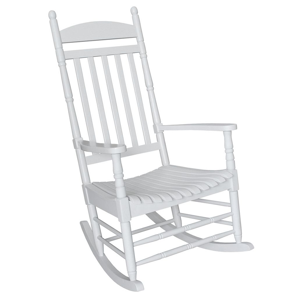Classic Turned White Porch Rocking Chair - Outdoor