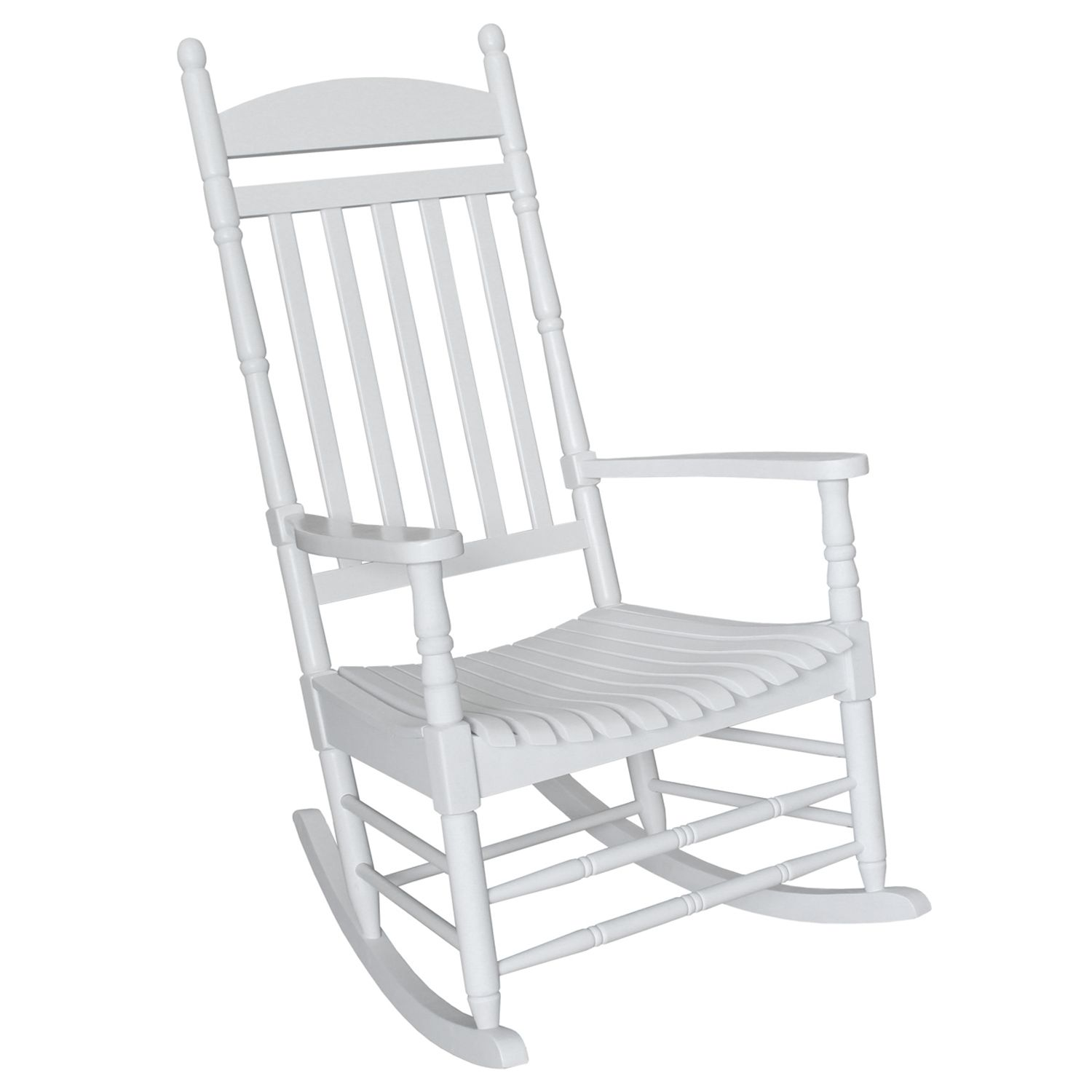 classic turned white porch rocking chair outdoor