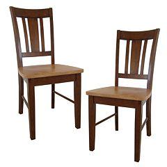 2 pc San Remo Splat-Back Dining Chair Set