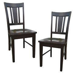 2 pc San Remo Splat-Back Dining Chair Set