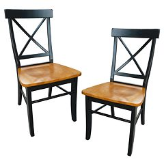 2-pc. X-Back Dining Chair Set