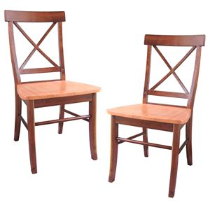 International Concepts X-Back Dining Chair 2-piece Set