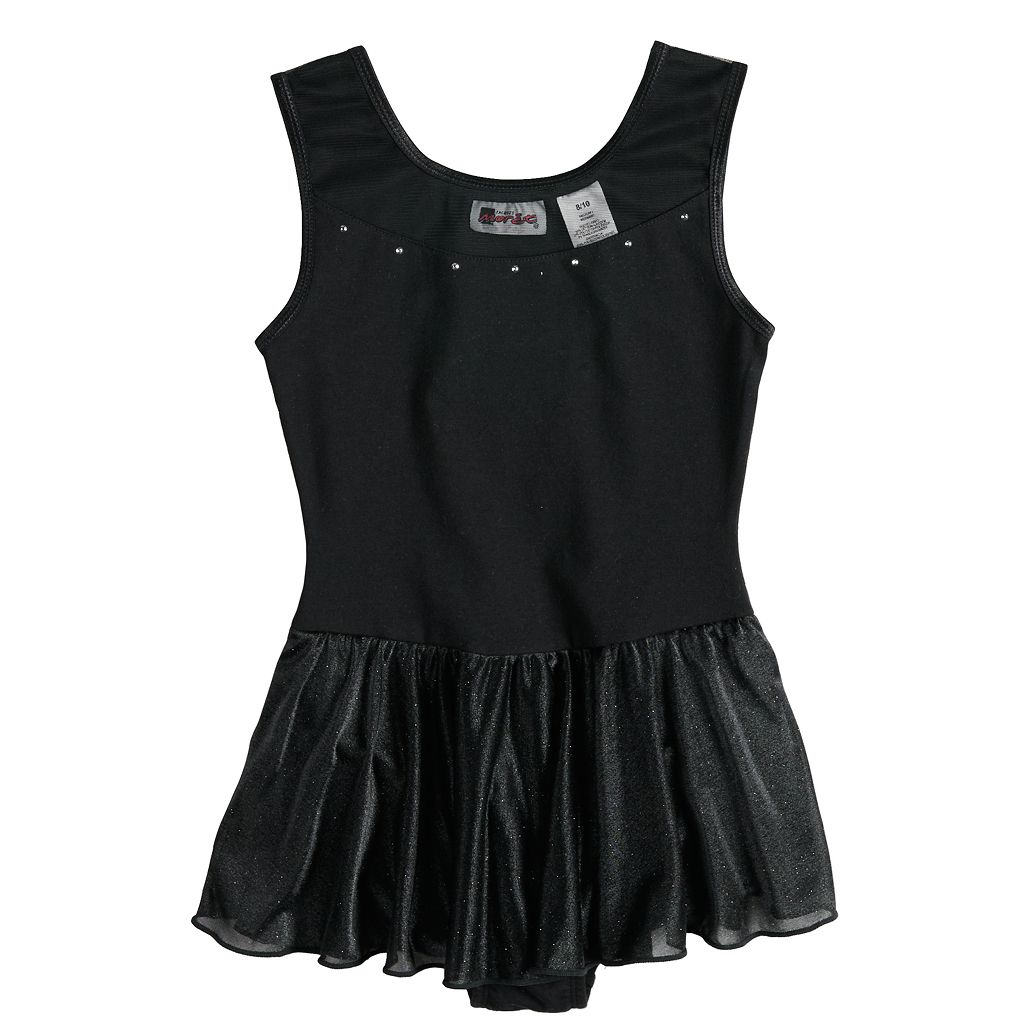 Girls Jacques Moret® Stud Sparkle Skirted Tank Dance Leotard