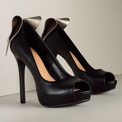ELLE Platform Peep-Toe High Heels
