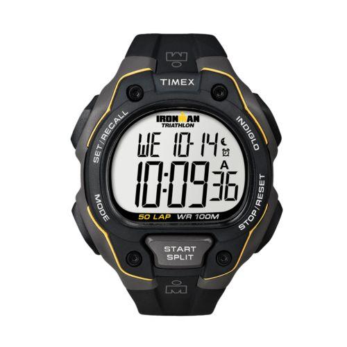 Timex Watch - Men's Ironman 50-Lap Resin Digital Chronograph - T5K4949J