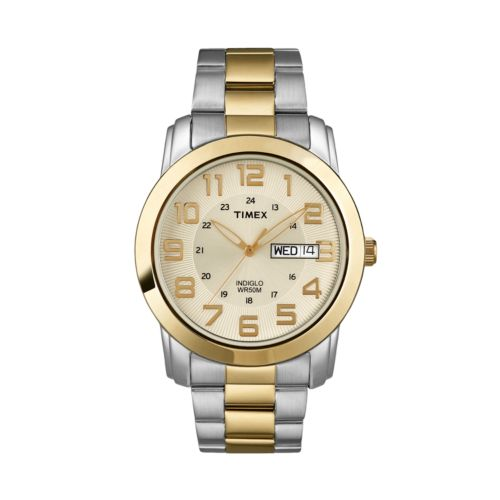Timex Stainless Steel Two Tone Watch - Men