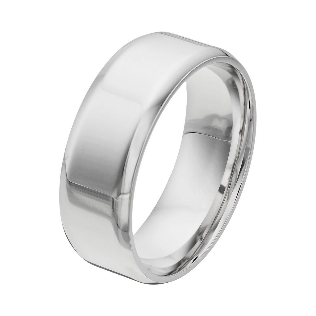 Cherish Always Stainless Steel Wedding Band - Men