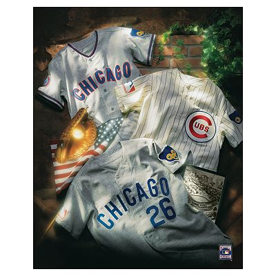 Chicago Cubs Collage Canvas Art