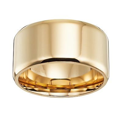Cherish Always 14k Gold-Over-Stainless Steel Band - Men