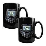 Green Bay Packers Super Bowl XLV Champions 2-pc. Ceramic Mug Set