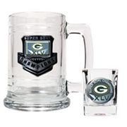 Green Bay Packers Super Bowl XLV Champions 2-pc. Mug and Shot Glass Set