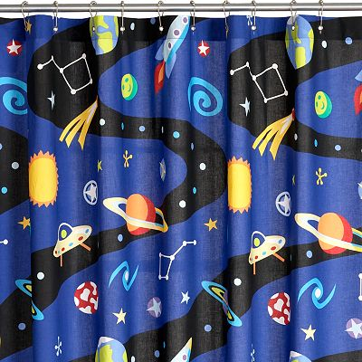 Olive Kids Out of This World Fabric Shower Curtain