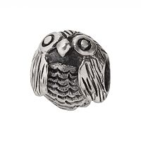 Individuality Beads Sterling Silver Owl Bead