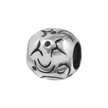 Individuality Beads Sterling Silver Swirl Bead